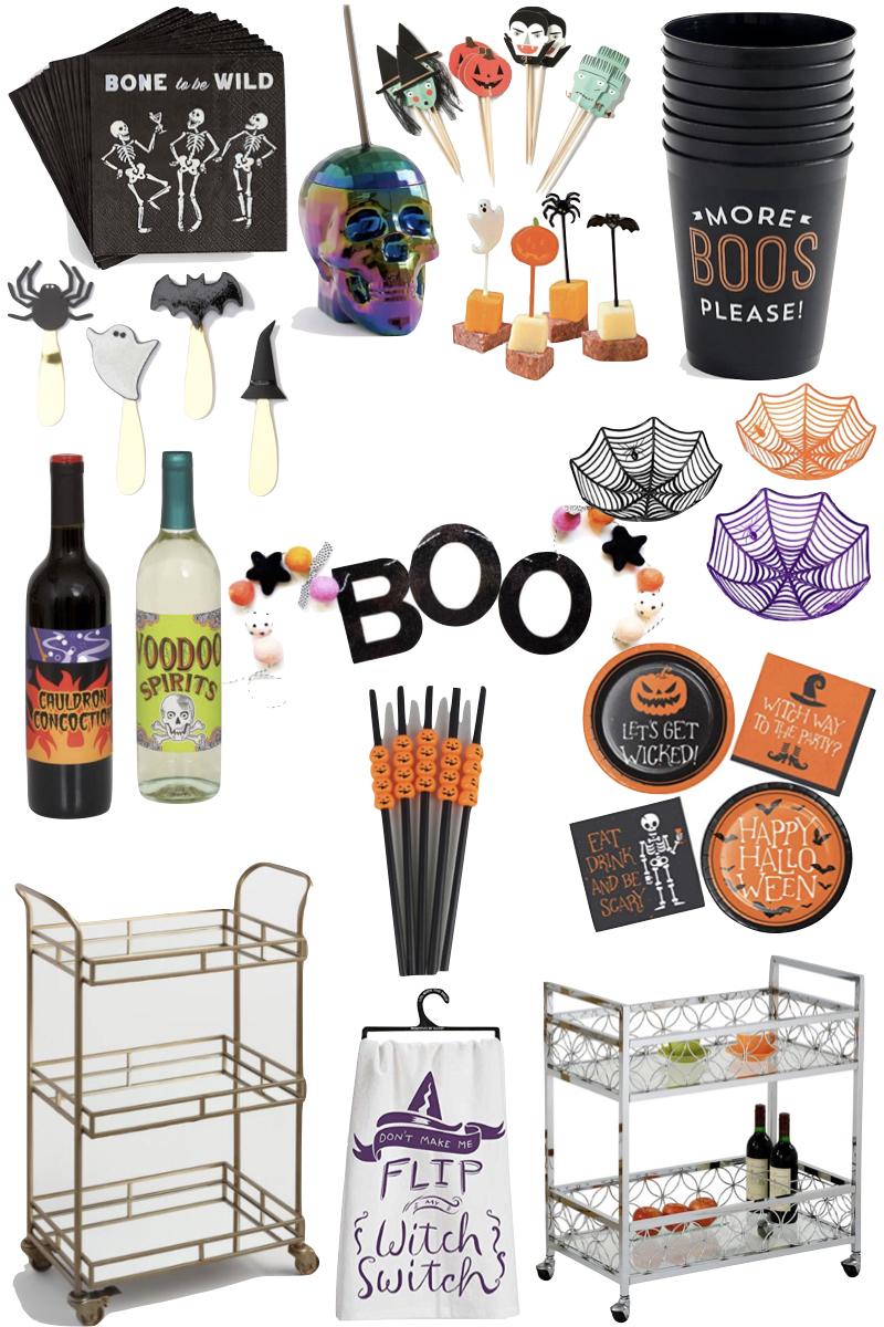 13 Things Your Halloween Bar Cart Needs Halloween Party Decor